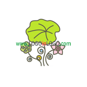 Logo Categories : Floral logo , Flower logo  &  Environmental & Green logo . Logo ID :26824